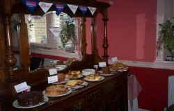Charity Cakes in Dining Room