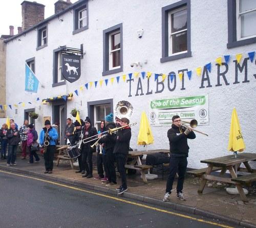 New York Brass Band entertaining around town