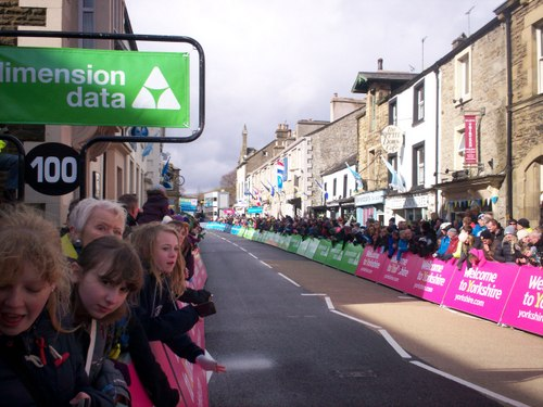 Getting excited for the final sprint after the circuit up Giggleswick