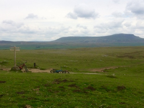 Lunch Spot with Pen Y Ghent in View