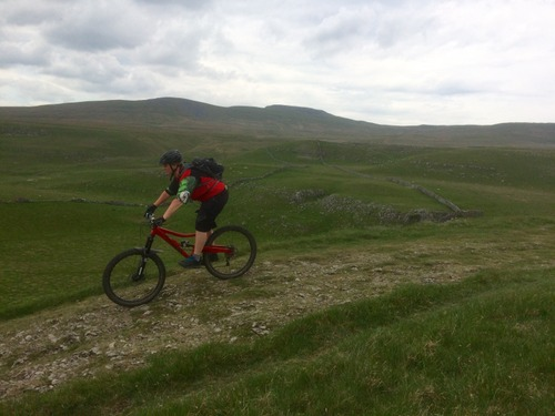 Enjoying the descent on Pennine Bridleway