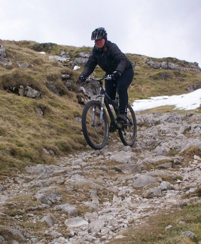 Settle Loop MTB Winter Stockdale Lane Downhill