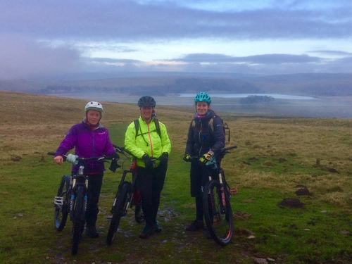 Settle Loop MTB over looking Malham Tarn in Winter