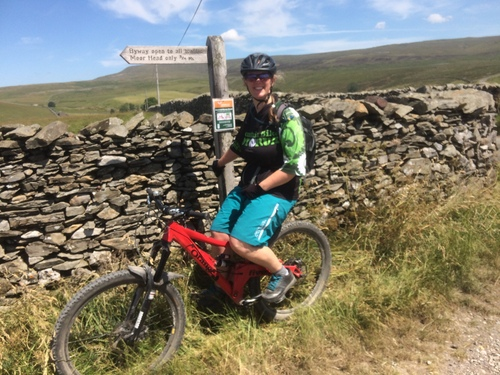 Moor Head Lane MTB in Yorkshire Dales near Pen Y Ghent